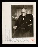 Sir Winston Churchill Postage Stamp poster