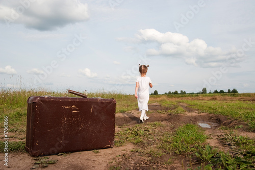 Child in countryside