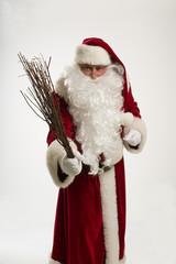 Weihnachten,Weihnachtsmann mit Rute