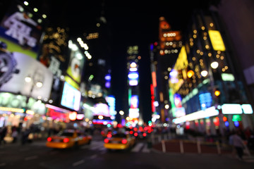 The times square at night