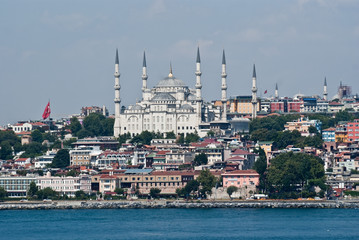 Blue Mosque, Istanbul from the Bosphorus