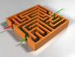 illustration of simple maze with solution
