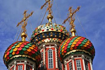Bunte Zwiebeltürme, Stroganov-Kirche, Russland