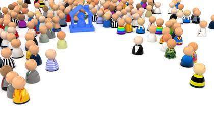 Cartoon Crowd, Housed