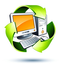 Komputer Recykling koncepcji / elektronika