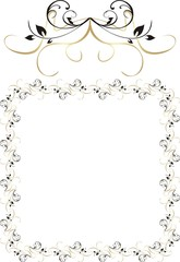 Decorative ornament for frame. Vector