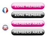 icône internet zone membre / members area poster
