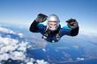 Leinwanddruck Bild - Skydiver falls through the air