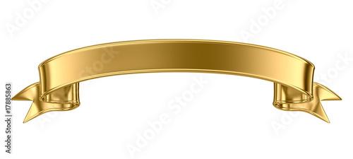 Gold metal banner - 17885863