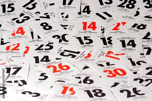 Leinwandbild Motiv Calendar pages