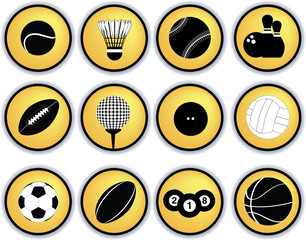 Sports balls button set