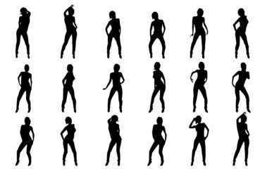 vector silhouette sexy dancer