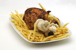 Pollo arrosto con patatine fritte
