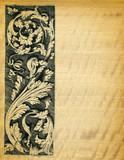 Renaissance engravings on  movinka wood poster