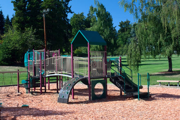 Playground Set in Beautiful Park