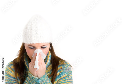 girl with flu