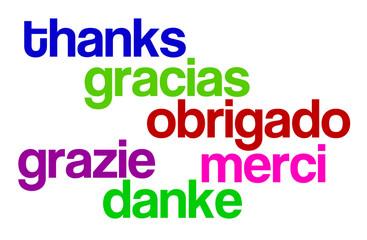 Merci différentes langues