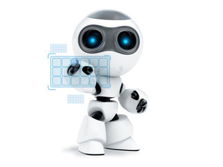 robot touch  screen