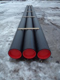 Pipes with red lids poster