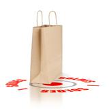 image concept solder - sac ou panier - achat en solde poster