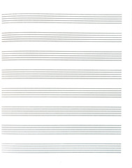 Blank sheet of music paper