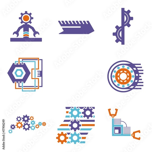 剪贴画图形图标城市工业工程形状技术插图摘要未来