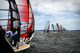 Windsurfing event in Baltic sea poster