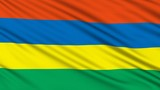 Mauritius Flag, with real structure of a fabric