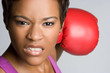 Black Boxing Woman