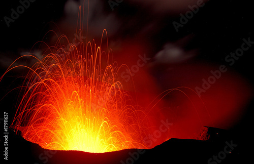 Leinwandbild Motiv Vulkanausbruch