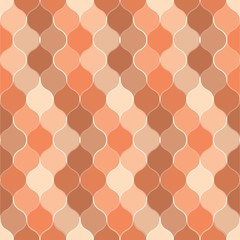 Seamless red bulb pattern