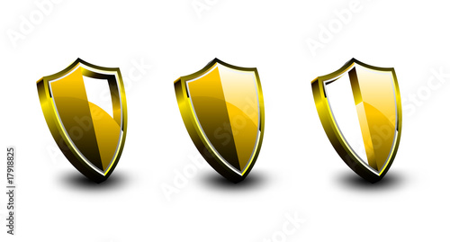 Golden Vector Armor Shield