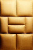 Sepia picture of genuine leather upholstery .... poster