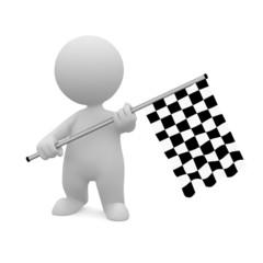 Omino bandiera a scacchi