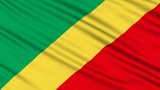 Republic of the Congo Flag, with real structure of a fabric
