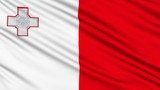Maltese Flag, with real structure of a fabric poster