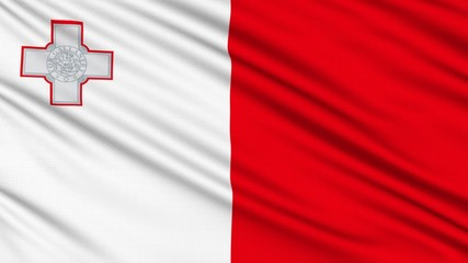 Maltese Flag, with real structure of a fabric