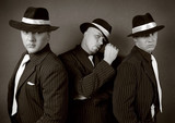 Three gangsters. Gangster gang Photo. poster