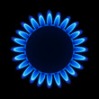 Natural gas flame on a hob. Vector.