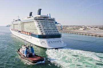 Tugboat and Cruise Ship