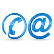 E-Mail, Telefon - Icons 3D