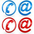 Telefon, E-Mail -  Icons 3D