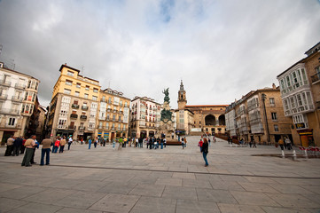 Old town of Vitoria Spain