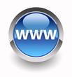 ''www'' glossy icon