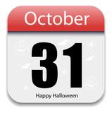 Halloween Calendar Date - October 31 poster