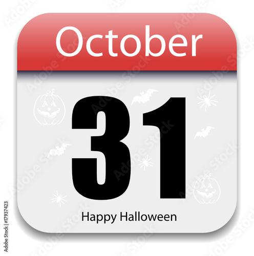 Halloween Calendar Date  October 31 by Mahesh Patil - October 31 Halloween