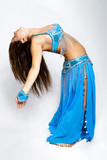 Bellydancer with blue costume