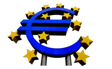 euro currency symbol with stars