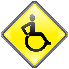 """Disabled"" Signpost -- Panneau ""Handicap"""