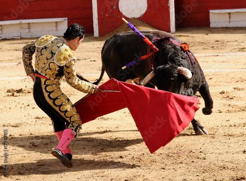 Staande foto Stierenvechten Matador & Bull